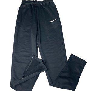 Nike Dri Fit Track Pants Black Zip Ankle & Pockets